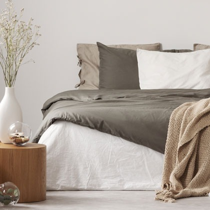 Bedding and bedroom with comforter