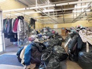 Piles of sorted coats