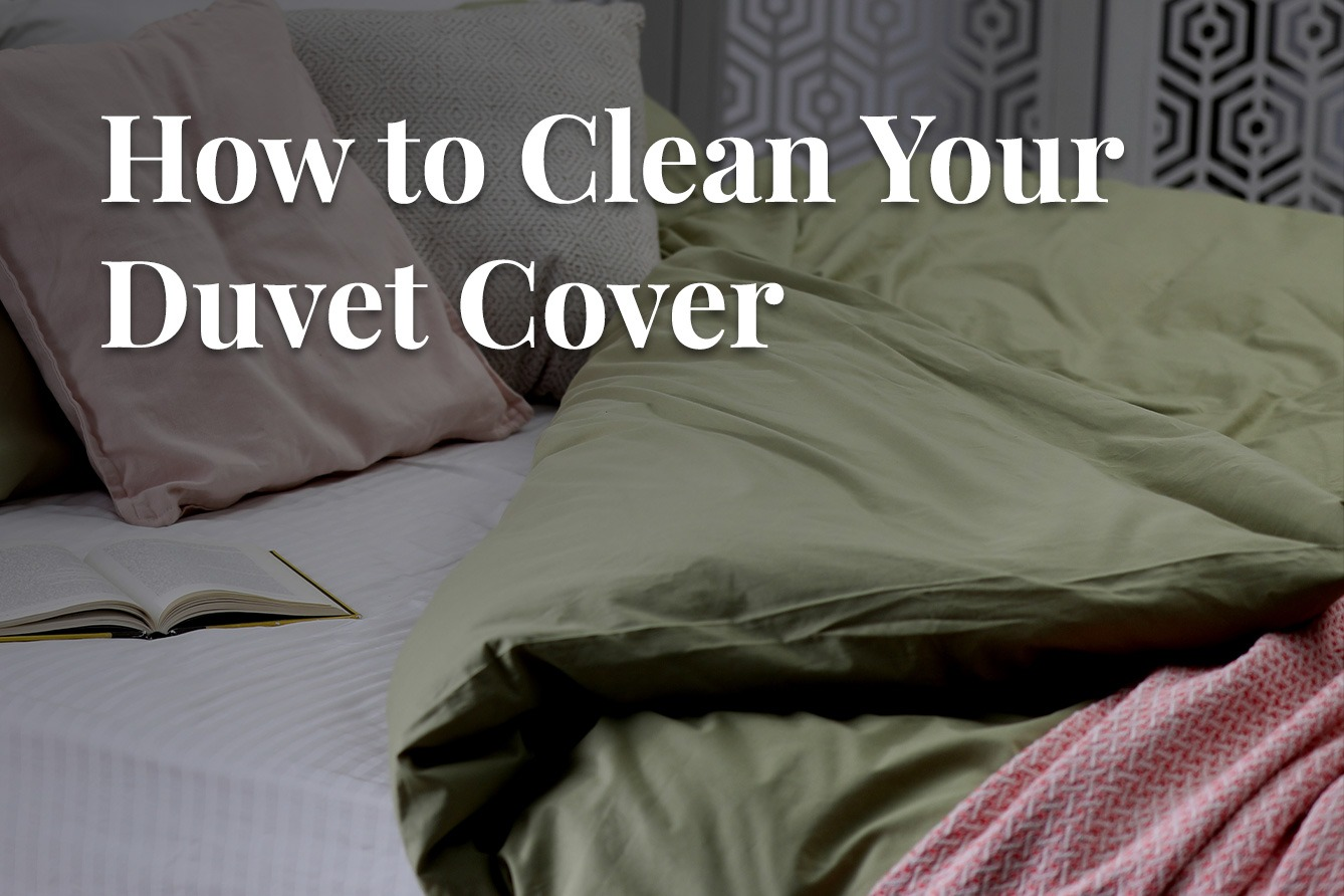Duvet cover folded over on bed