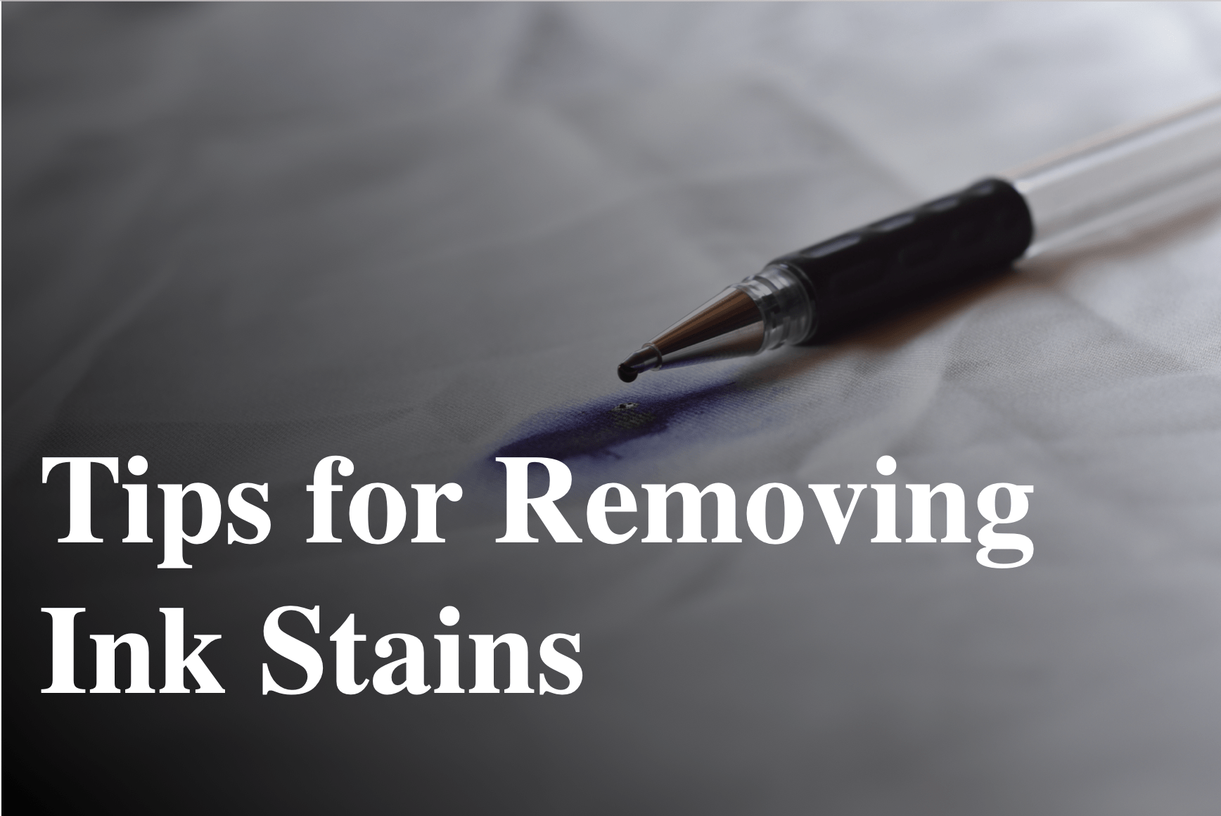 tips for removing ink stains